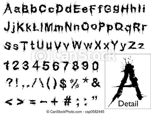 Grunge font - csp0582445