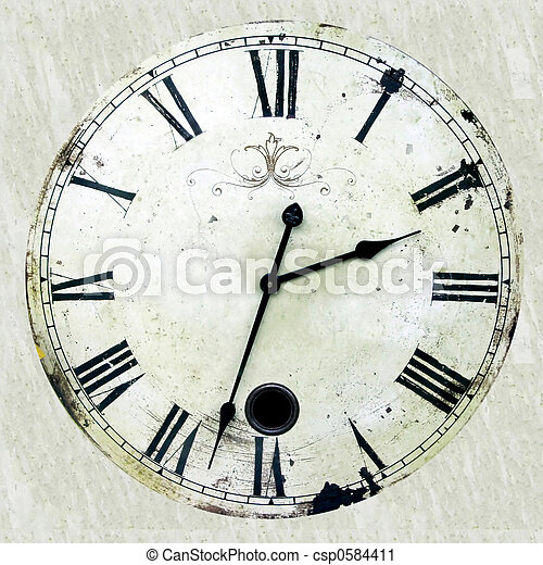 Antique clock - csp0584411