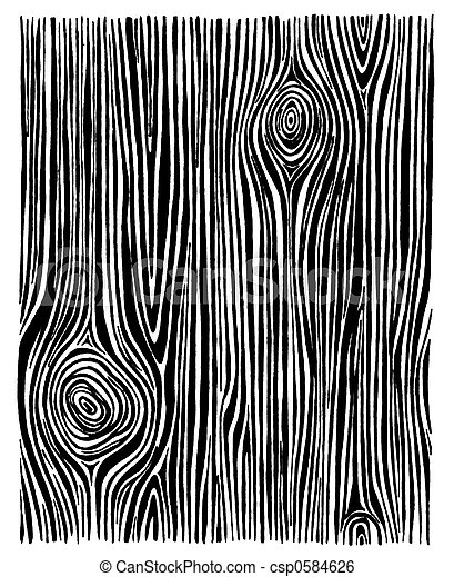 Wood Line Drawing - csp0584626