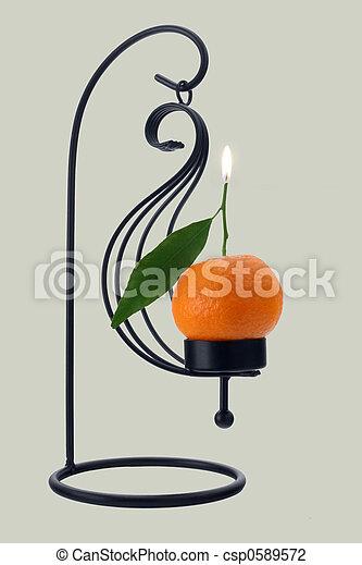 Mandarin orange scented candle - csp0589572
