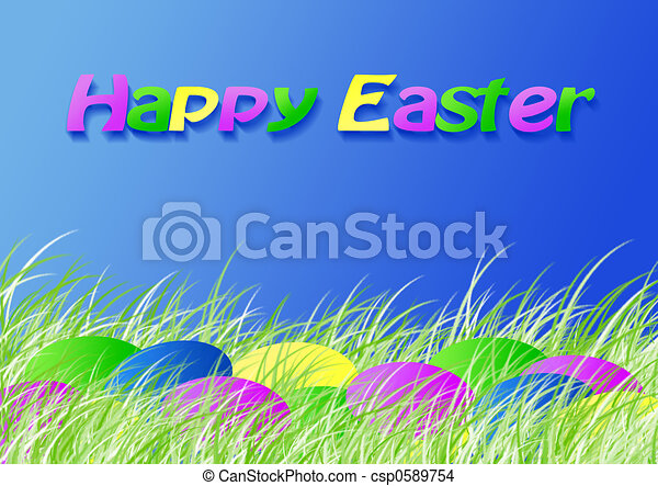 Easter dyed eggs - csp0589754