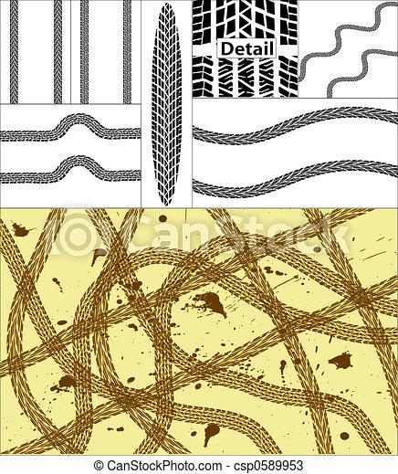 Tire tracks - csp0589953