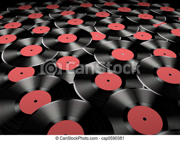 Vinyl records - csp0590381