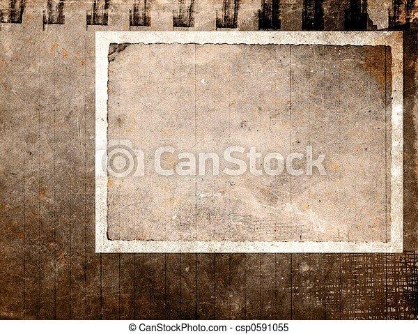 weinlese, papier, grunge - csp0591055