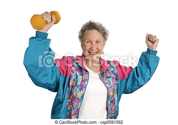 Senior Fitness Success - csp0591562