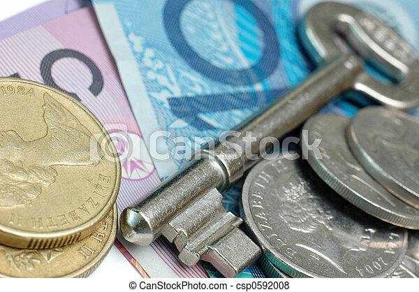 Key and Australia money - csp0592008
