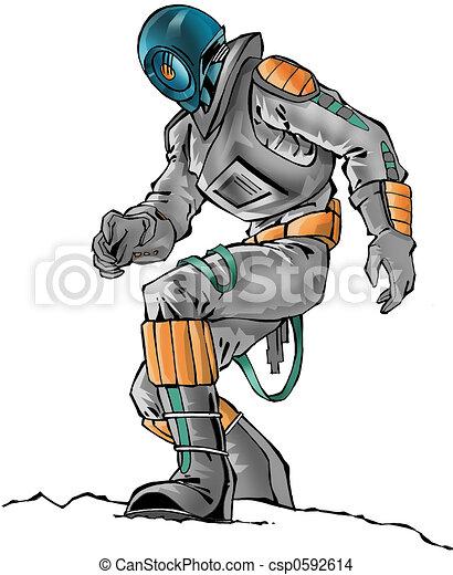 Dessin de astronaute a astronaute spacesuit csp0592614 recherchez des illustrations - Dessin d astronaute ...