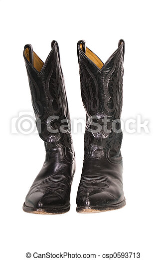 Isolated cowboy boots - csp0593713