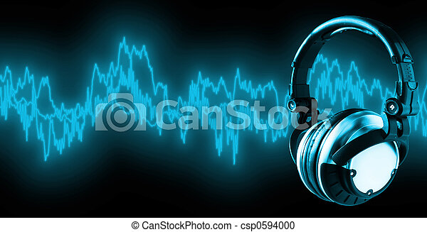 xxl), (+clipping, musik, bana, lyssna - csp0594000