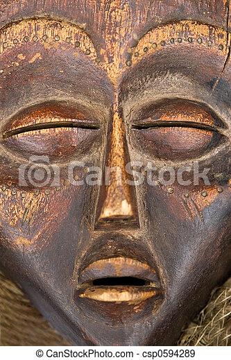 antique African mask - csp0594289