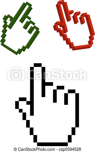 Stock Illustration of Hand cursor csp0594528 - Search EPS Clip Art ...