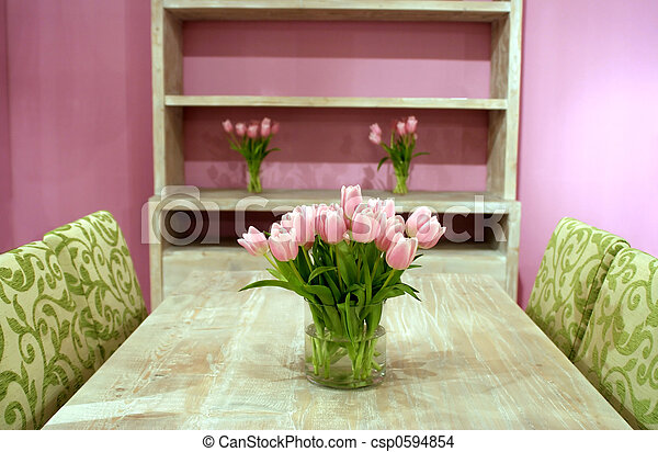 Tulips in interior - csp0594854
