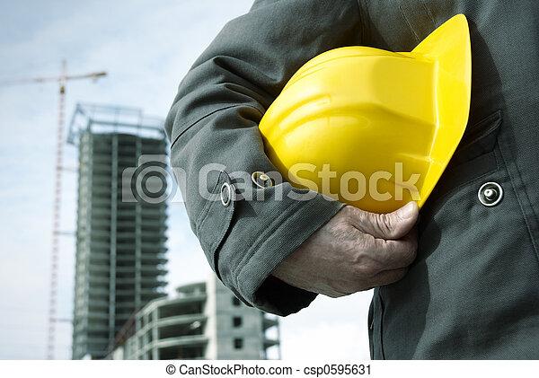 konstruktion,  under - csp0595631