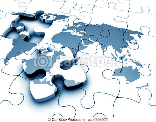 World jigsaw - csp0595922