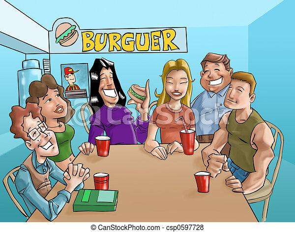 burger teens - csp0597728