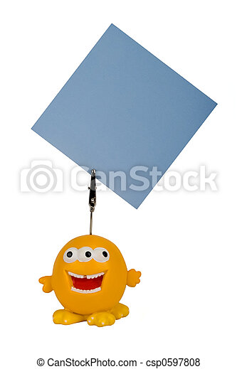 funny notes holder - csp0597808