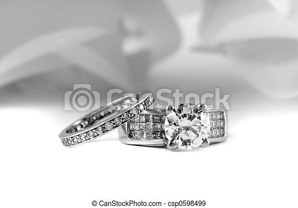 Engagement Wedding Rings - csp0598499