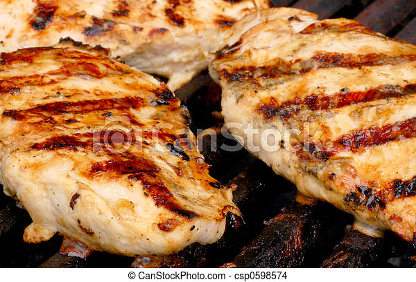 Chicken on the grill - csp0598574