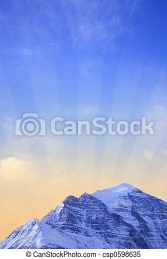 Mountain sunrise - csp0598635