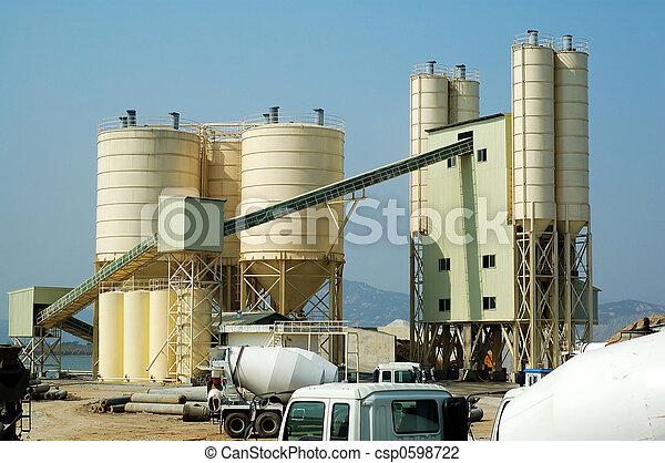 The concrete factory - csp0598722