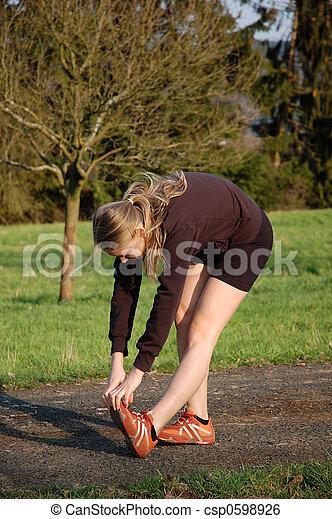 Woman Stretching - csp0598926