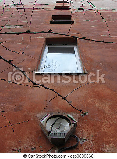 janelas,  Streetlamp,  &, antigas,  brocken - csp0600066