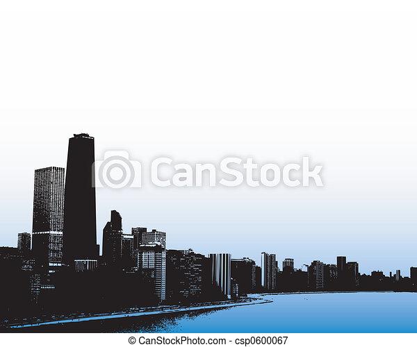 Chicago skyline - csp0600067