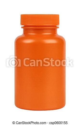 Orange plastic jar - csp0600155