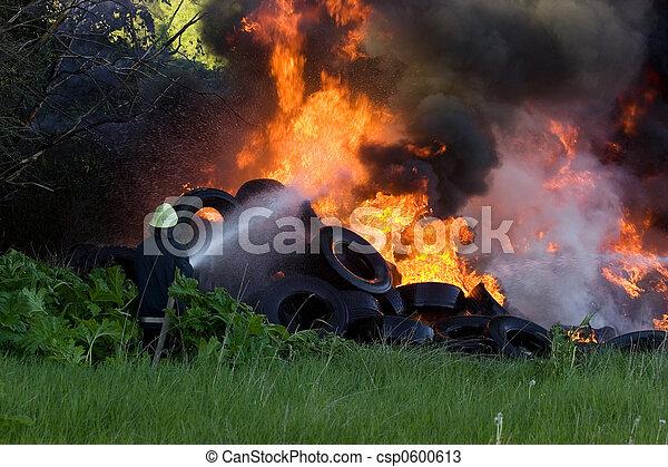 Firefighters battle - csp0600613