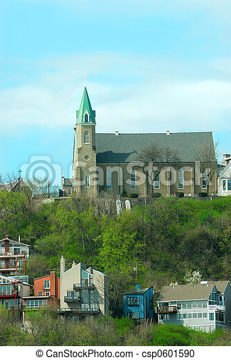 Historic Holy Cross Immaculata Church in Cincinnati OH - csp0601590