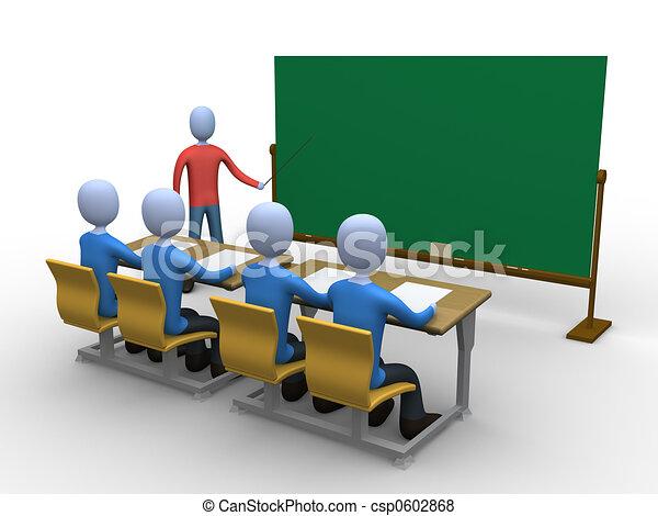Teacher in Classroom - csp0602868