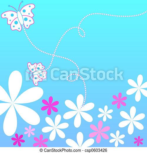 Floral butterflies - csp0603426