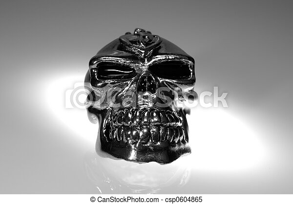 Photo of a Chrome / Silver SKull - Witchcraft / Demonology