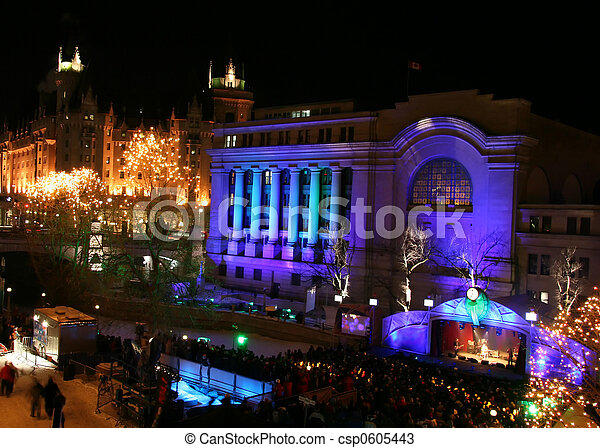 Winterlude Festival in Ottawa Canada - csp0605443