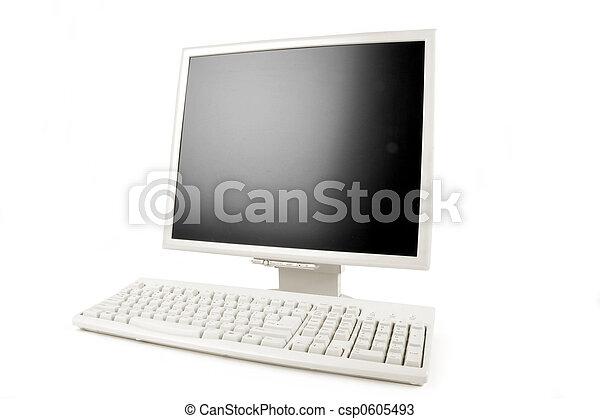 lcd monitor and keyboard - csp0605493