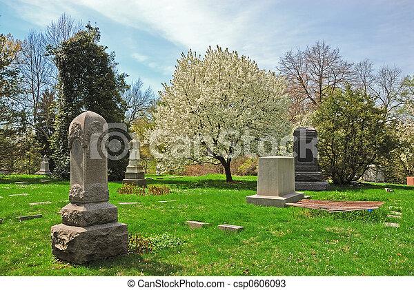 Historic Spring Grove Cemetery in Cincinnati Ohio USA - csp0606093