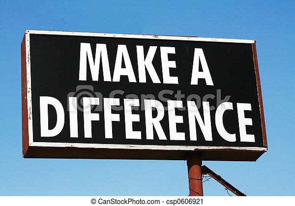 fare, differenza - csp0606921