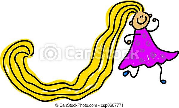 really long hair - csp0607771