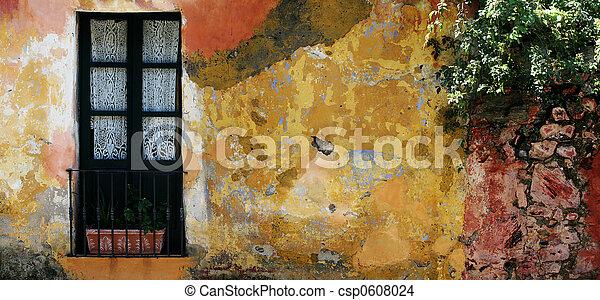 Historic house in Colonia, Uruguay  - csp0608024