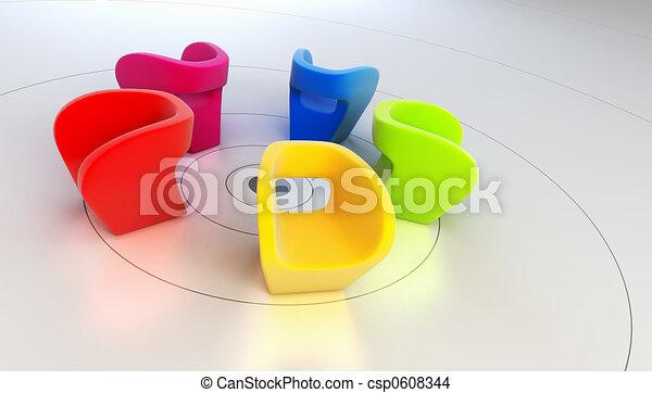 modern armchair 3D rendering - csp0608344