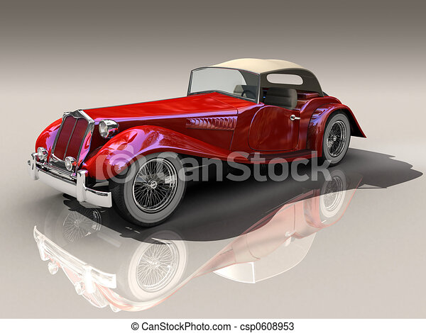 Surface Modeling Drawings Shiny Old Hot Rod 3d Model of