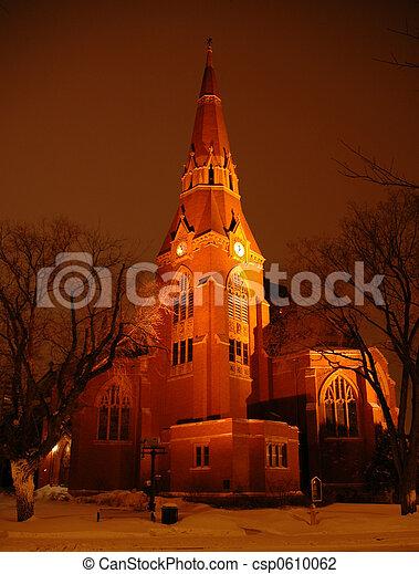 晚上, 教堂 - csp0610062