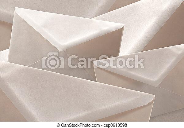 Simple white cheap envelopes background - csp0610598