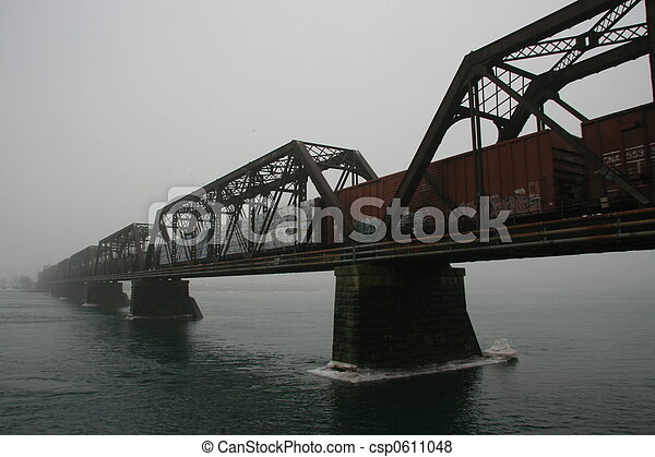 train on bridge - csp0611048