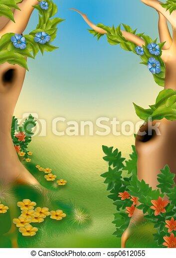 高像素森林动画图片