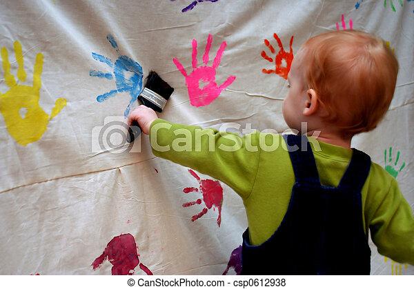 Toddler Painting - csp0612938