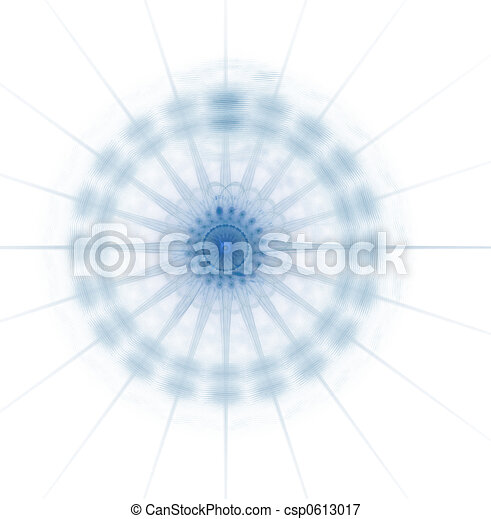 Business Graphic - Offset Blue Spines - csp0613017