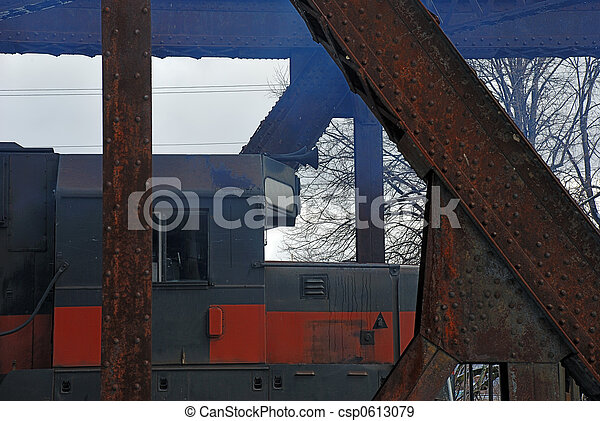 Train engine & smoke - csp0613079