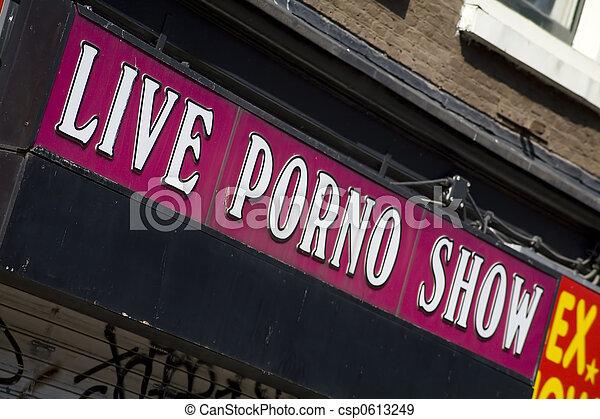 Porno show sign - csp0613249