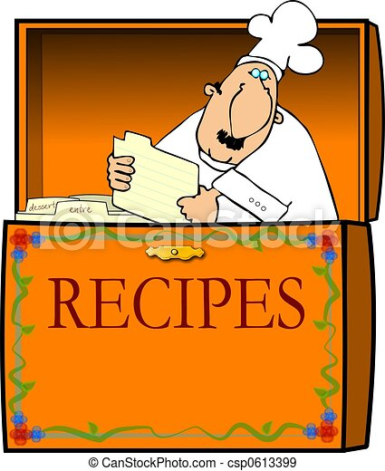 Chef In A Recipe Box - csp0613399